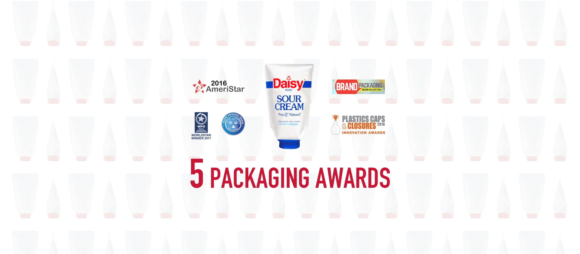 Daisy Squeeze Sour Cream packaging awards